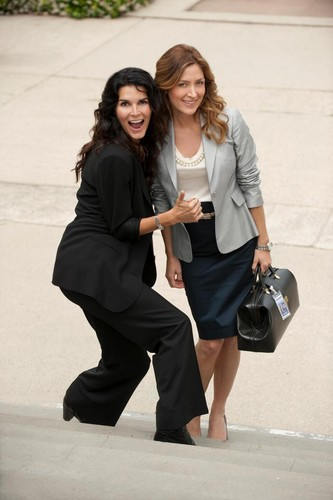 Rizzoli & Isles wallpaper containing a business suit and a well dressed person titled jane rizzoli and maura isles