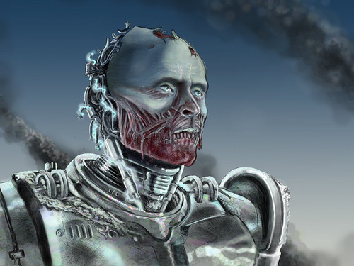 Robocop wallpaper possibly with a breastplate called Zombie Robocop