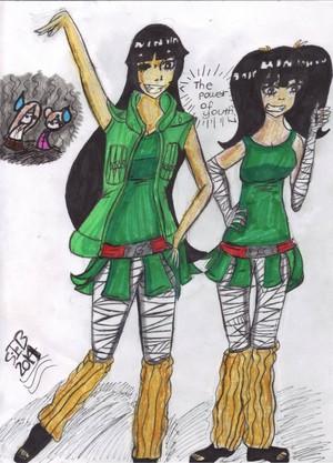 Gai and Lee as girls...O.O (Read description)