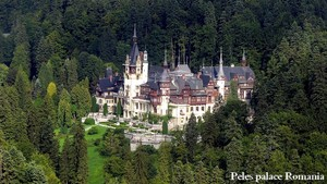 Peles palace in the Carpathian mountains, Romania