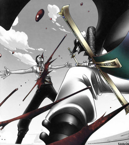 One Piece Zoro Wallpaper: Roronoa Zoro Images *Zoro V/s Mihawk* Wallpaper And