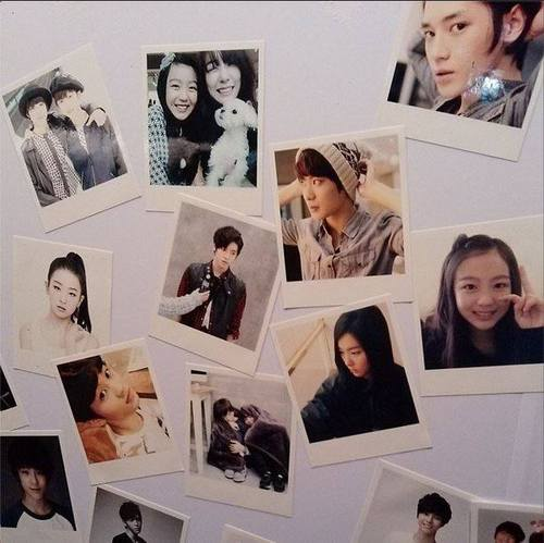 SM ROOKIES Обои containing an electric refrigerator and a refrigerator entitled 131221 SMROOKIES Polaroids @ SMTOWN Week Exhibition