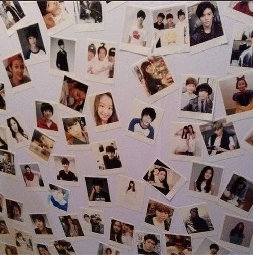 SM ROOKIES Обои containing an electric refrigerator called 131221 SMROOKIES Polaroids @ SMTOWN Week Exhibition