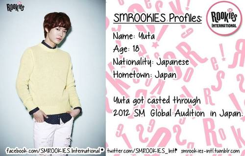 """SM ROOKIES Обои possibly containing a well dressed person, an outerwear, and long trousers titled Newly launched Pre-Debut Team SMROOKIES """"YUTA"""""""