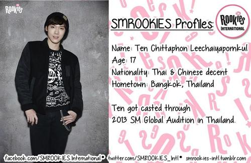 "SM ROOKIES Обои probably with a well dressed person and a sign called Newly launched Pre-Debut Team SMROOKIES ""TEN"""