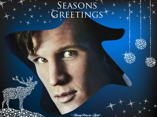Matt Smith: The Doctor wallpaper called Season's Greetings Meg