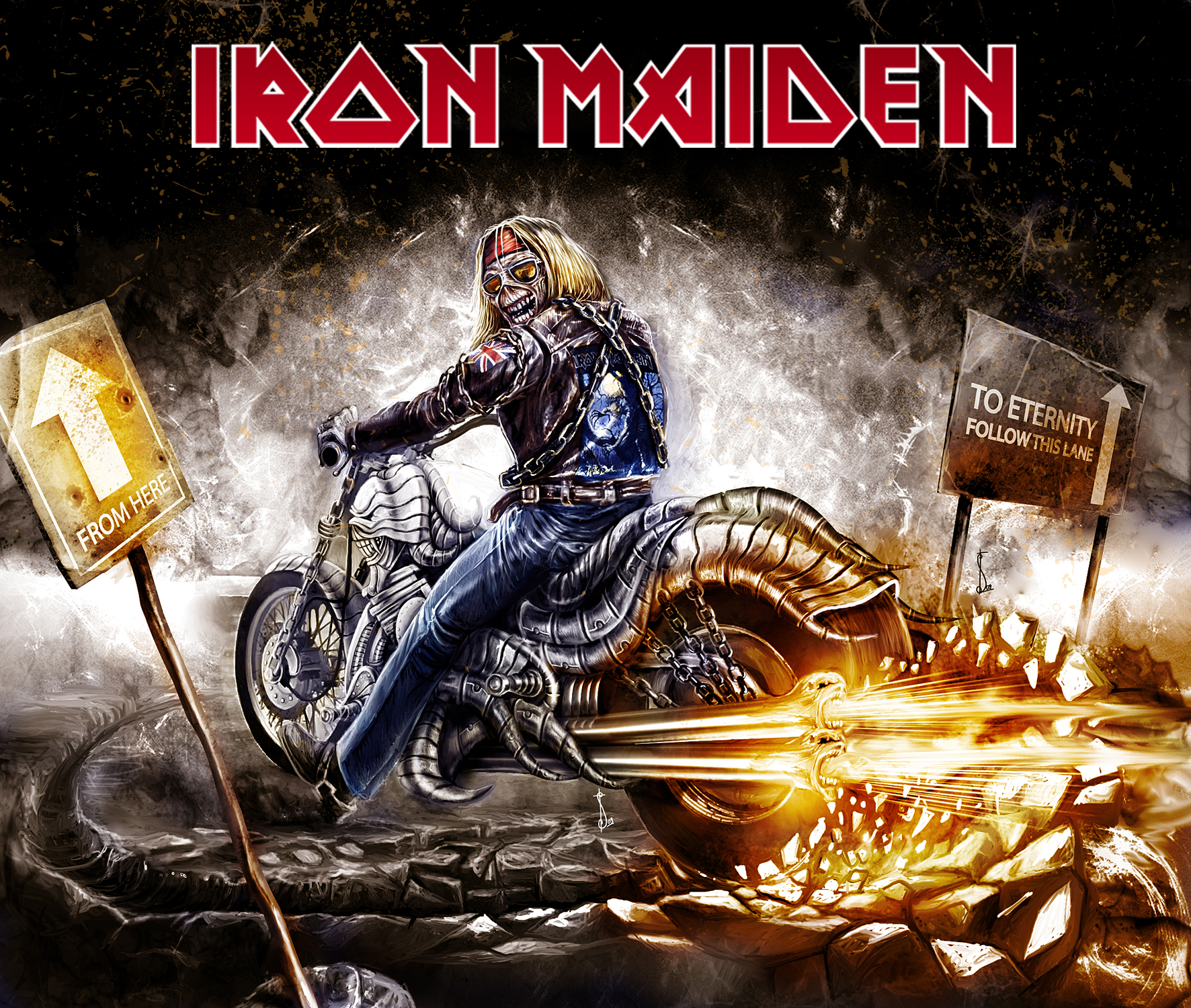 skulls images iron maiden hd wallpaper and background