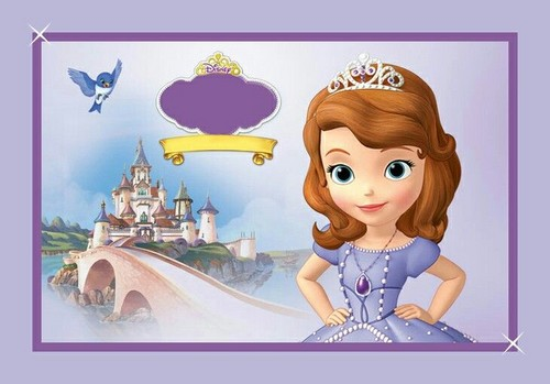 A Princesa Sofia wallpaper titled sofia the first invite or thank you