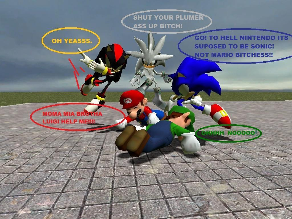Fat Mario vs Fat Sonic Sonic vs Mario