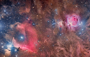 The Horsehead and Orion Nebula