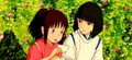 Sen and Haku - spirited-away photo