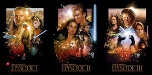 All звезда Wars Prequel Movie Posters
