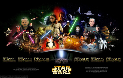 Star Wars Prequels wallpaper containing anime titled Star Wars Saga
