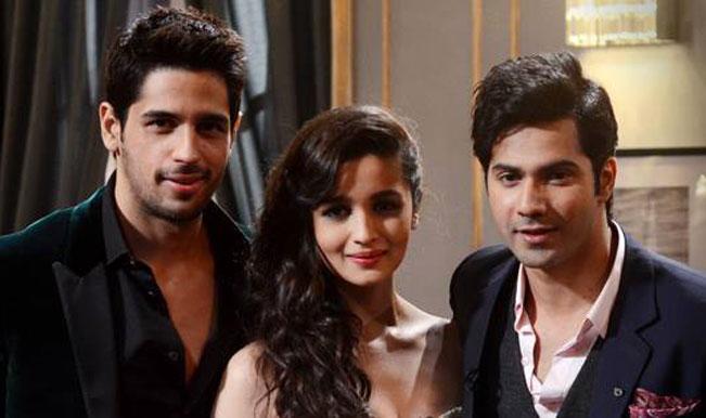 Varun,Alia and Siddharth on Koffee with Karan sets
