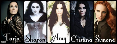Symphonic Metal 壁紙 containing a portrait titled Tarja Turunen - Sharon デン Adel- Amy Lee - Simone Simmons -