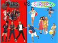 TBM Bikers vs Surfers - teen-beach-movie fan art