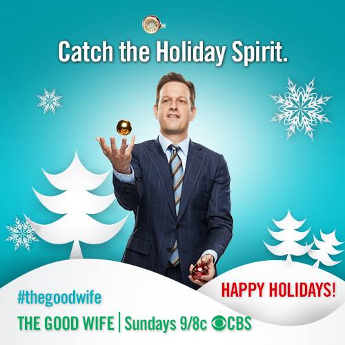 The Good Wife wallpaper containing a business suit and a suit entitled will gardner - happy holidays