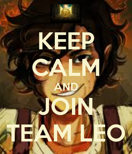 Helden des Olymp Hintergrund probably with Anime and a portrait titled Keep Calm And Mitmachen Team Leo