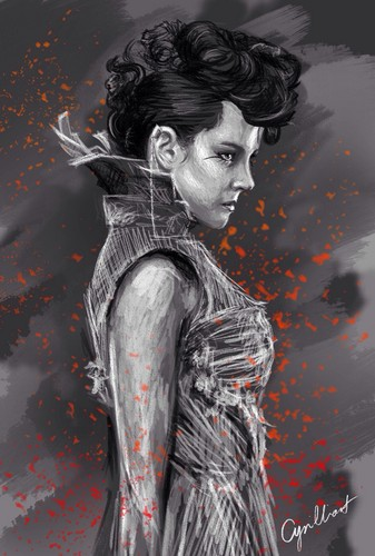The Hunger Games wallpaper possibly containing a sign, a hip boot, and a street entitled Johanna Mason ♢