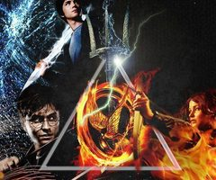 The Hunger Games wallpaper possibly with a fire entitled Hunger Games! Percy Jackson! Harry Potter!