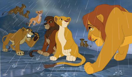 The Lion King 2:Simba's Pride wallpaper possibly with anime titled Simba has to learn to trust kiara