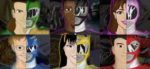 The Power Rangers wallpaper entitled Mighty Morphin Power Rangers Season 1-2