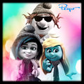 Vexy, Hackus and Smurfette on Instagram - the-smurfs photo
