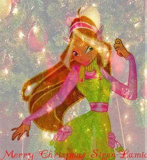 Merry Рождество Siren-Lamia