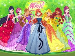 winx club in beautiful dresses