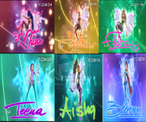 sirenx with winx club names