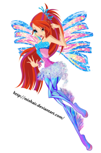 The Winx Club پیپر وال titled Bloom sirenix