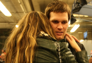 Reunited. Tom and Gisele