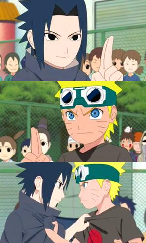 sasuke uchiha vs Naruto kids