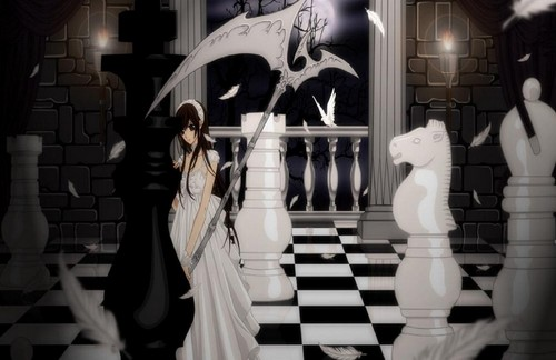 Vampire Knight Wallpaper Titled Yuki On Chess Board
