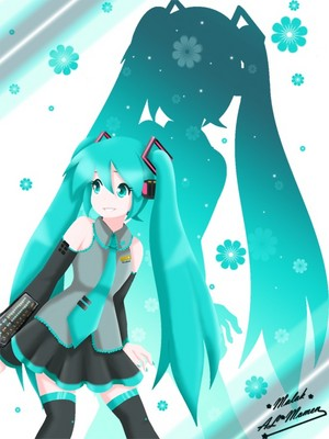 Miku iphone Обои