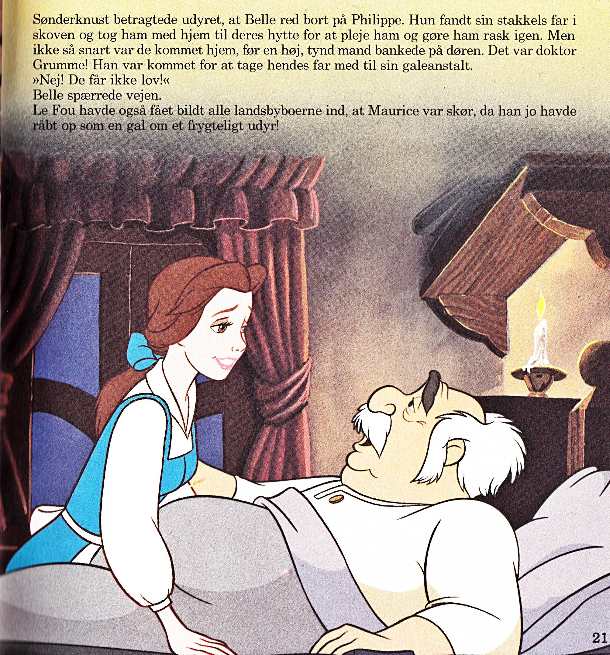 Walt Disney Book Images - Princess Belle & Maurice