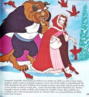 Walt Дисней Book Обои - The Beast & Princess Belle