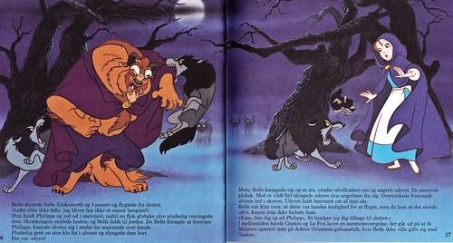 Walt Disney Characters karatasi la kupamba ukuta with anime called Walt Disney Book picha - The Beast & Princess Belle