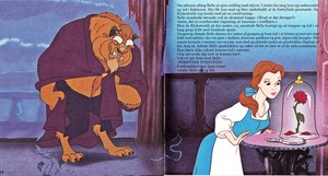 Walt disney Book gambar - The Beast & Princess Belle