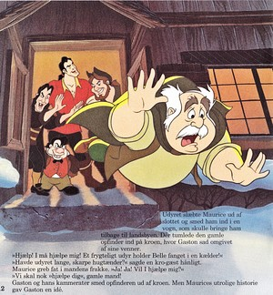 Walt Disney Book hình ảnh - The Townspeople, Gaston, Le Fou & Maurice