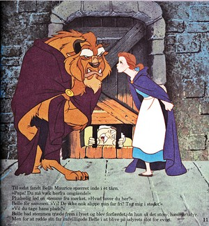 Walt Дисней Book Обои - The Beast, Maurice & Princess Belle