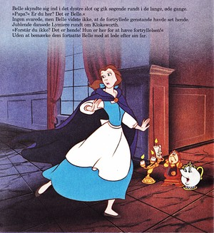 Walt Disney Book images - Princess Belle, Lumière, Cogsworth & Mrs. Potts