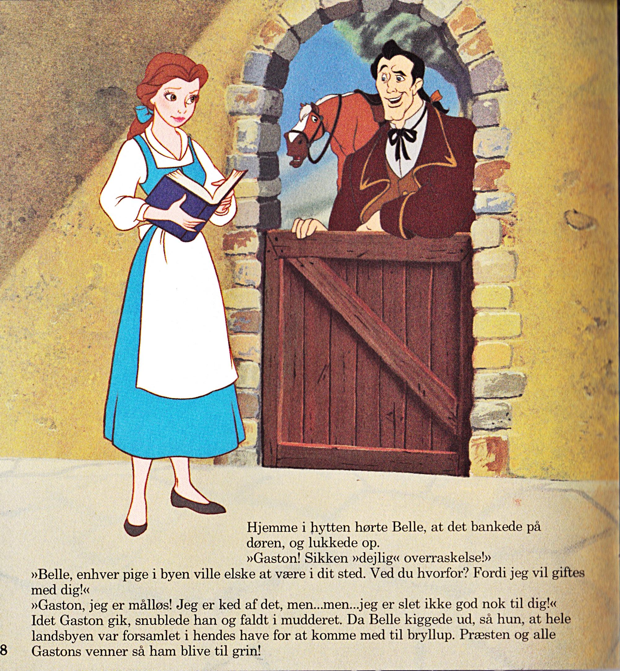 Walt Дисней Book Обои - Princess Belle, Phillipe & Gaston