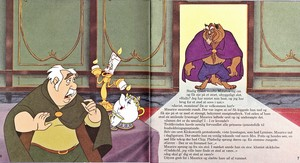 Walt Disney Book afbeeldingen - Maurice, Lumière, Chip Potts, Mrs. Potts & The Beast