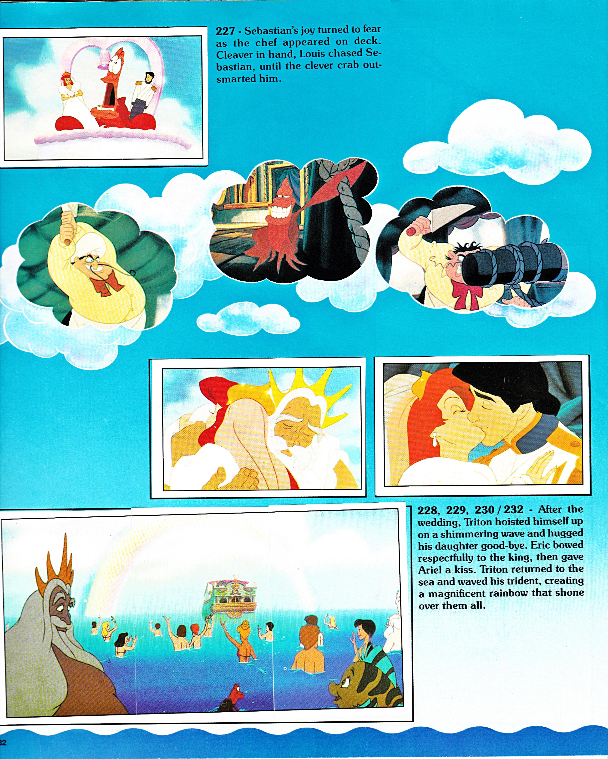 Walt Disney Movie Stickers Album The Little Mermaid