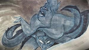 Walt 디즈니 Sketches - Ursula, Flotsam & Jetsam