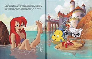 Walt Disney Book images - Princess Ariel, Flounder, Sebastian & Scuttle