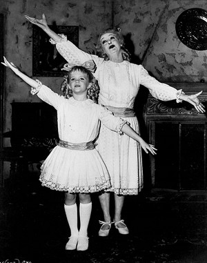 Julie Allred and Bette Davis being playful