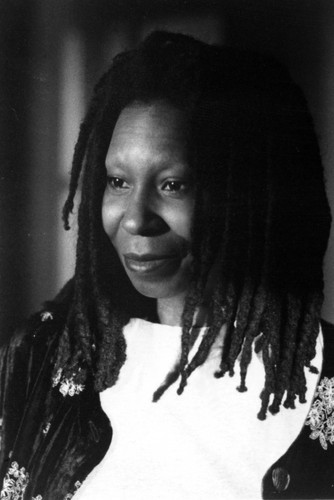Whoopi Goldberg wallpaper possibly with an outerwear, a dashiki, and a box coat titled Boys on the side