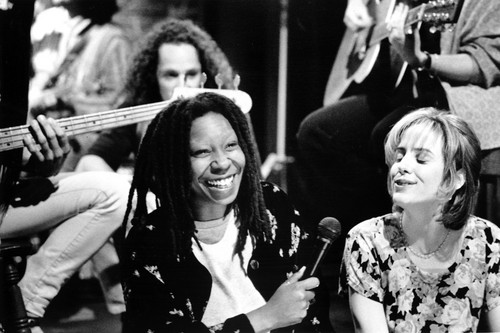 Whoopi Goldberg wallpaper possibly containing a drummer called Boys on the side
